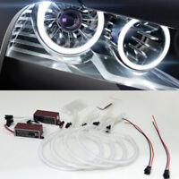 Angel Eyes Halo 131/146mm Light Ring Bulb White For BMW 3 Series E46 CCFL Pretty