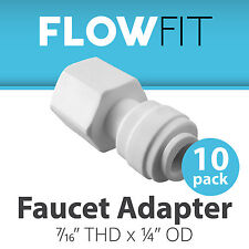 "Faucet Adapter 1/4"" x 7/16"" Fitting Connections Water Filters / RO Systems 10 Pk"