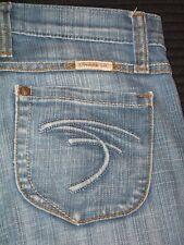 Frankie B Straight Jeans Low Waist Sz 2 F Pockets Distressed w Stretch L 29