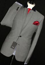 BNWT MENS PAUL SMITH LONDON TAILOR-MADE 2018 EDITION TEXTURED GREY SUIT 44R W38