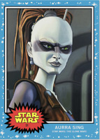 Topp Star Wars Living Set Card #31 Aurra Sing STAR WARS THE CLONE WARS