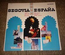 Segovia Espana LP, Guitar Torroba Turina Rodrigo Villa Lobos DL710160 record