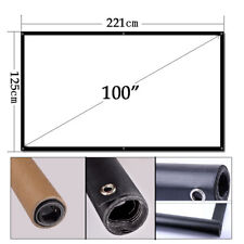Caiwei 100'' 16:9 Portable Led Projector Screen Home Theater Outdoor Meeting Pvc