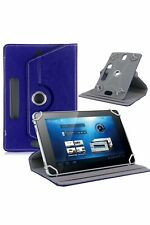 Blue 360° Folio Leather Case Cover Stand For Android Tablet PC 7