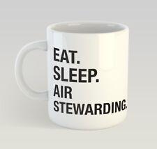 Eat Sleep Air Stewarding Funny Mug Novelty Humour Birthday Steward Stewardess