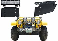 Custom License Plate Bracket With LED Light Bar Mounts Cree New Free Shipping