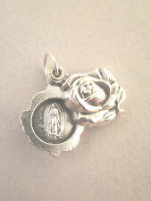 Our Lady of Guadalupe / Ruega Por Nosotros Locket Style Rose Slide Medal Italy