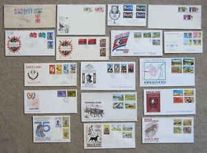 +++ SWAZILAND - COLLECTION of FIRST DAY COVERS 1947 to 1977 +++