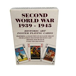 Second World War 1939-1945 Historic Art Poster Playing Cards 54 Classic Images