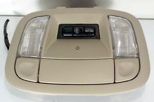 ✅ 1994-1999 CADILLAC DEVILLE OVERHEAD CONSOLE MAP COURTESY LIGHT  BEIGE OEM