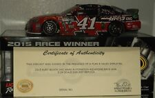 2015 Kurt Busch #41 Haas Automation Richmond Win Autographed W/Green 1/24 W/Coa