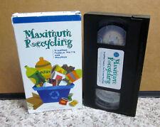 MAXIMUM RECYCLING Pamela Watts VHS green eco educational MAXMAN recycling