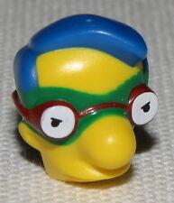 Lego New Yellow Minifig Head Modified Simpsons Milhouse Van Houten Green Mask