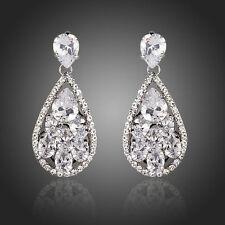 Bridal Chandelier Earrings Cubic Zirconia Drop Dangle Earrings Luxury Earrings