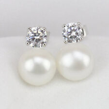 Diamonds & Pearls Fashion Studded Earrings NEW Silver Gift Box