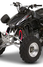 ATV,SHOCK COVER,PROTECTEUR D'AMORTISSEUR,VTT,HONDA,SUZUKI, SET DE 3  MONSTER RED