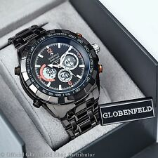 MENS ANALOG /DIGITAL BLACK GLOBENFELD LIMITED EDITION SUPER SPORT WATCH SRP £525