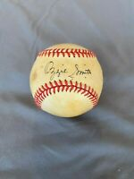 Ozzie Smith Autographed Game Used Baseball. St. Louis Cardinals Collectible.