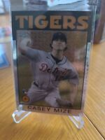 2021 Topps Series 1 #86BC-85 Casey Mize. Silver Pack Mojo Refractor Rookie Card.