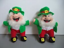 New Irish 2 lucky leprechauns Finnegan Ireland lucky small pocket size mascot