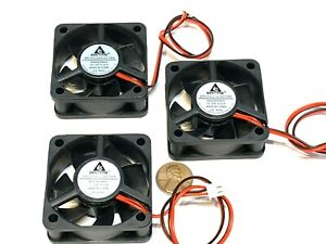 3 Pieces Fan 12v blower turbo fast quiet 5cm 50mm small computer case 2pin A35