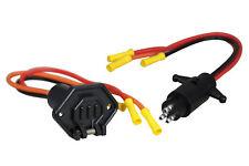 Pactrade Marine Boat Trolling Motor Plug & Socket Set 12-24V 3-Wire 10 Gauge