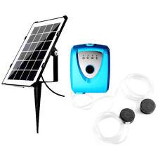 2X(Solar Powered Charging Water Mini Aquarium Air Pump Fish Tank Oxygen Air H4I2