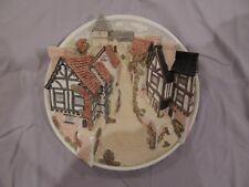 David Winter Cottages Collectors Guild 3D Plaque Cobblestone Street