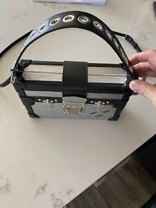 FENDI MINI STRAP YOU BAG HANDLE STRAP BLACK LEATHER ORIG $350!!
