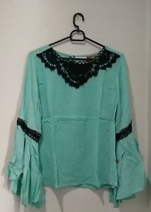 Bell Sleeve Embroidered Women's Top