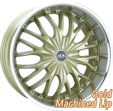 "OX631 20x8"" Blank Gold Machine Lip Alloy Wheels Mag for most vehicles"