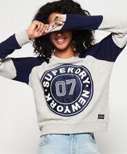 Superdry Damen Sweatshirt Mit Applikation Und Rundhalsausschnitt