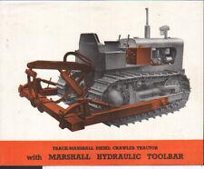 Track-Marshall Crawler Tractor with Marshall Hydraulic Toolbar Brochure Leaflet