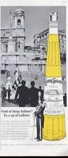 1965 Italiano Galliano Liqueur Vintage Bottle Livorno Destill the Sun PRINT AD