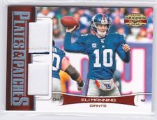 2011 Panini Gridiron Gear Plates & Patches Eli Manning Dual Jersey Patch #/100