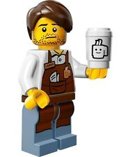 The Lego Movie Collectible Minifigure #10 Larry the Barista with coffee cup city