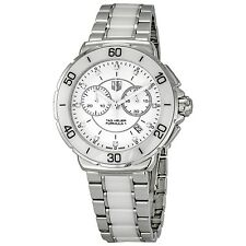 AUTHENTIC TAG HEUER FORMULA 1 CAH1211.BA0863 DIAMOND WHITE CERAMIC LADIES WATCH