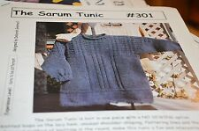 Cabin Fever Knitting Pattern 301 Sarum Tunic No Sew One Piece 40.5 to 57.5