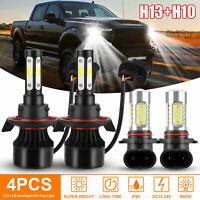 4x H13 LED Headlight Fog bulbs Hi/Lo Beam 6000K 2000W For Ford F-150 F-250 F-350