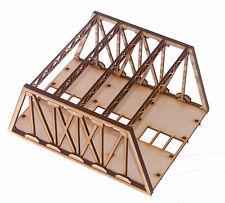 BR003 Twin Track Short Girder Rail Bridge OO Gauge Model Laser Cut Kit