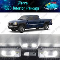 LED Interior Package Map Dome Cargo License Light Kit for GMC Sierra 1999 - 2006