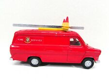 Vintage Dinky Toys Ford Transit Van Red Fire Service England