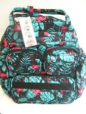 NEW w Tags Lug Mini Puddle Jumper Quilted Day Bag/Backpack Pink Flamingo Pattern