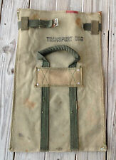 WWII Variant US Army Heavy Duck Canvas Bailey Transport Bag WW2 Handles Unissued