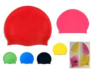 New Swiming Cap 100% Silicone-red/blue/pink/orange/clear/white/black