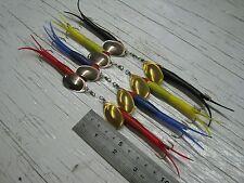 A4. 8 Flying C filatori. # 3 Esche BAIT PER SPIGOLE blu salmone luccio trota di mare