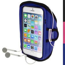 """Blu Fascia da Braccio Armband per Apple iPhone 6 4.7"""" 2014 Sport Corsa Jogging"""
