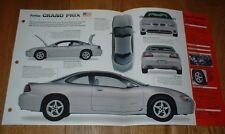 ★★1999 PONTIAC GRAND PRIX GTP ORIGINAL IMP BROCHURE 99 97 1997-2003 SUPERCHARGED