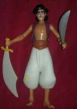 "Aladdin Adventurers 1999 Disney Store Exclusive Action Figure 12"" w/2 Swords"