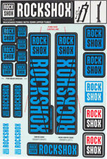 Decal Kit - RockShox Decal Kit, 35mm, Blue - Sticker/Decal